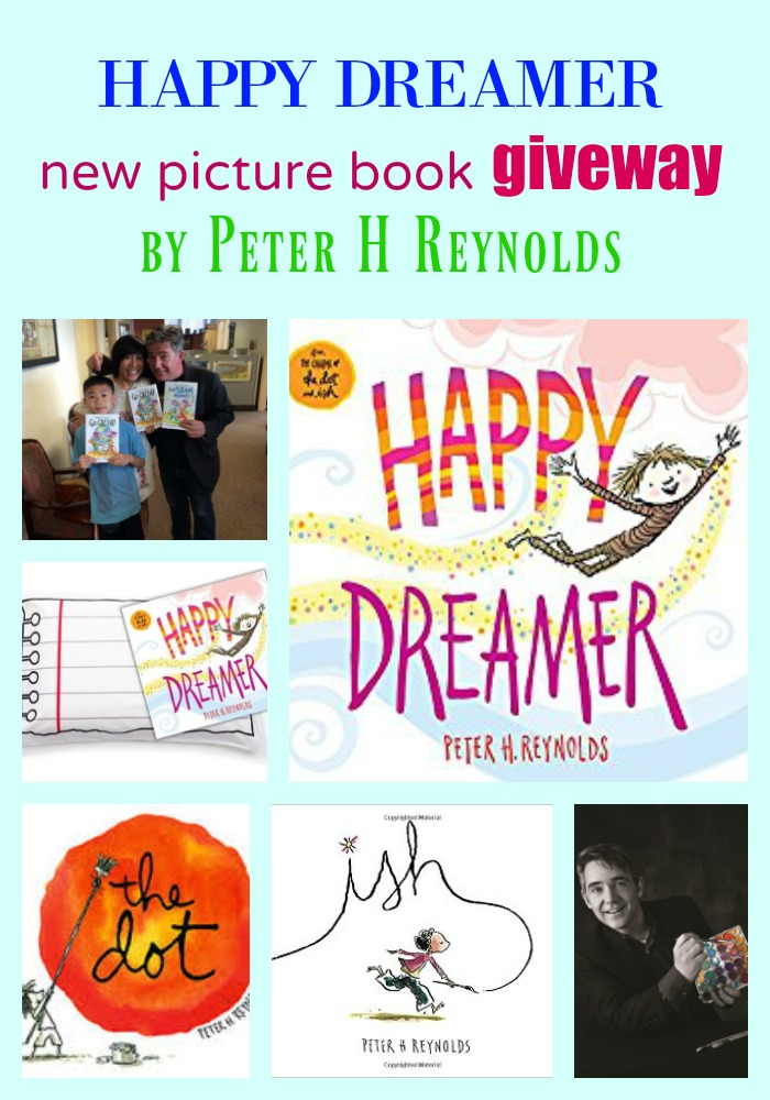 #HappyDreamer GIVEAWAY by Peter H Reynolds