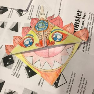 Origami craft for Chinese New Year and The Nian Monster
