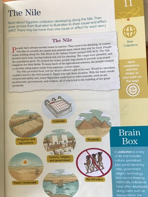 Summer Brain Quest Workbook Nile page example