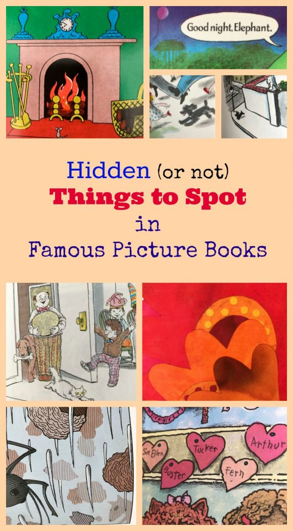 Hidden (or not) Things to Spot in Famous Picture Books