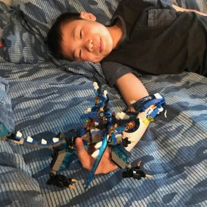 my son and legos