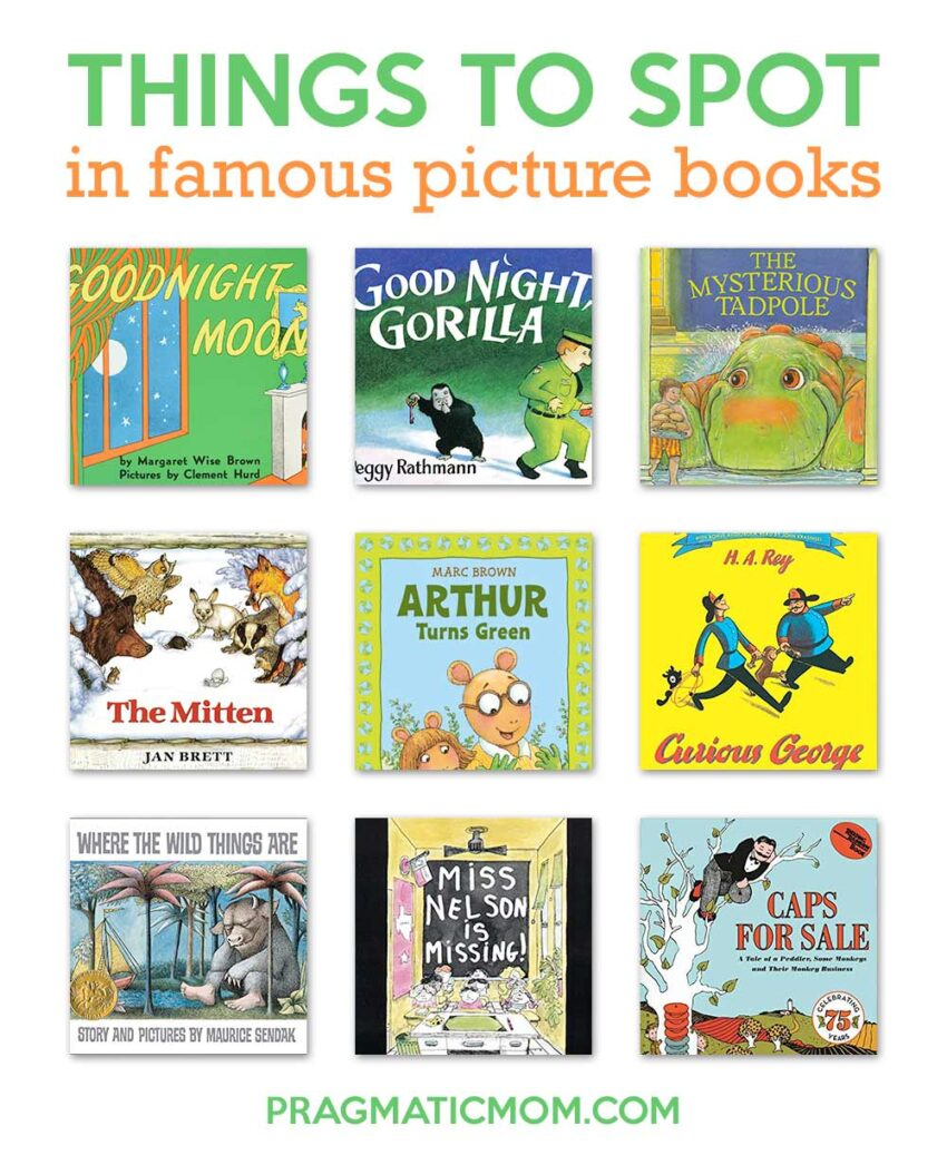 Things to Spot in Famous Picture Books