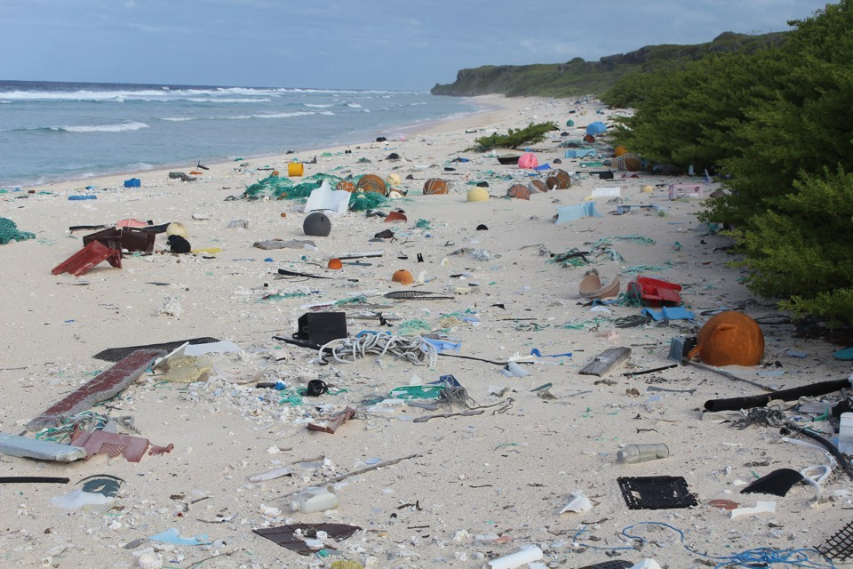 The Atlantic: A Remote Island is Now a Plastic Junkyard