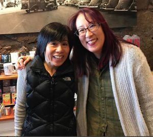 Debbi Michiko Florence with Mia Wenjen PragmaticMom at Newtonville Books