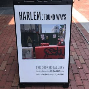HARLEM: Found Ways Cooper Gallery in Harvard Square