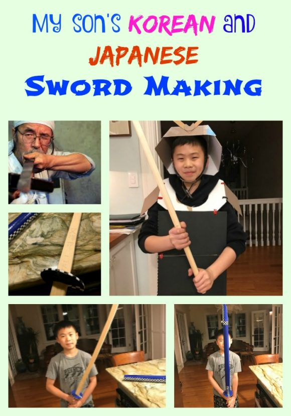 My son's Korean and Japanese Sword Making