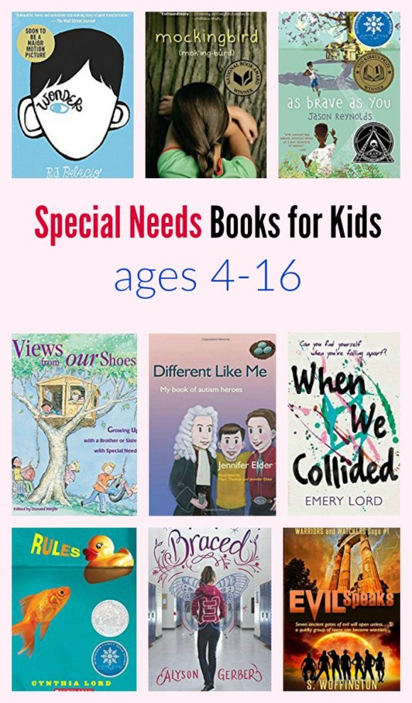 Special Needs Books for Kids ages 4-16