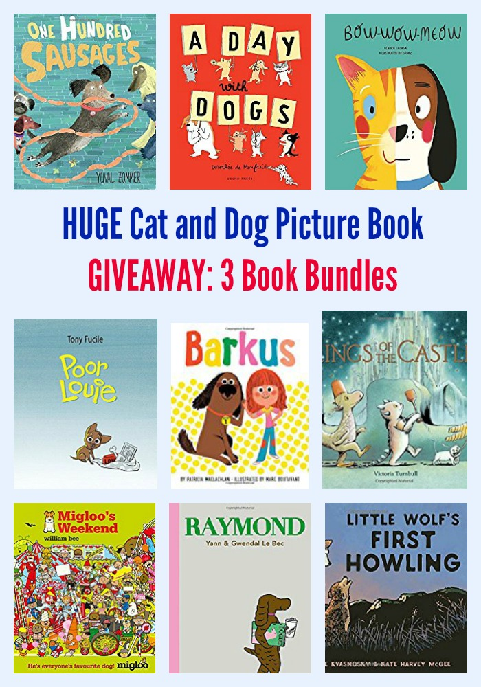 HUGE Cat and Dog Picture Book GIVEAWAY: 3 Book Bundles