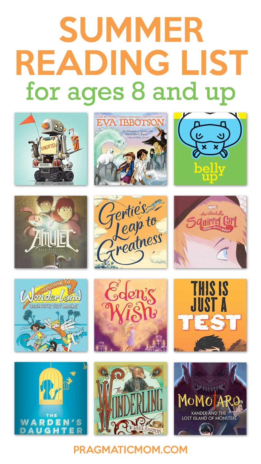 Summer Reading List for ages 8 and up
