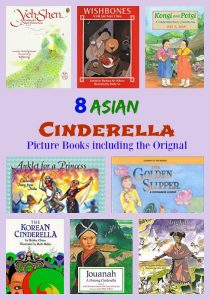 8 Asian Cinderella Picture Books including the Original