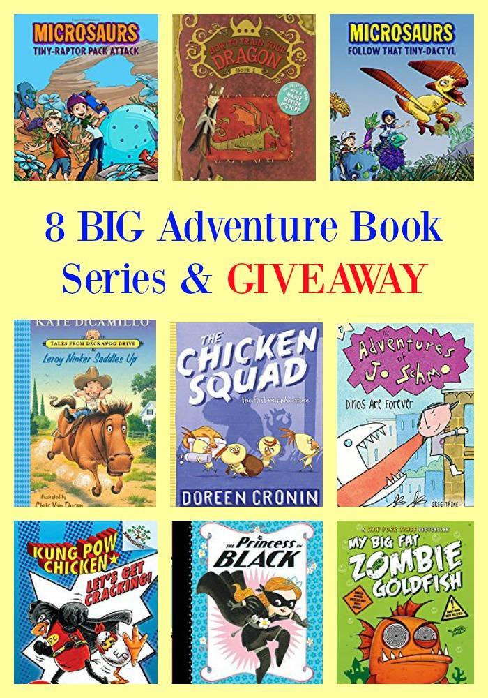 8 BIG Adventure Book Series & GIVEAWAY