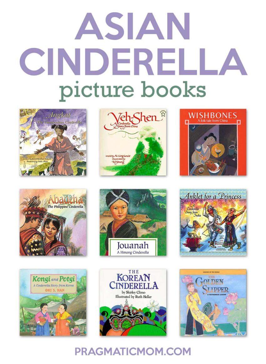 9 Asian Cinderella Picture Books including the Original