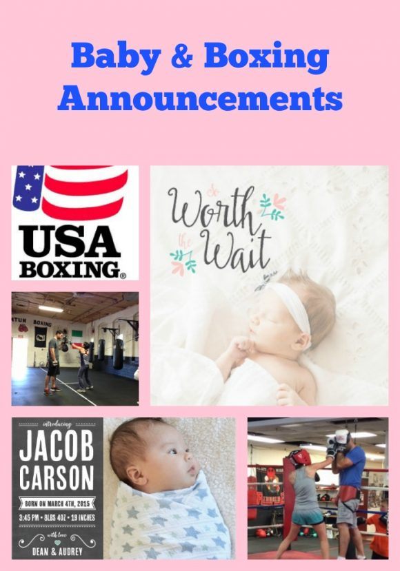 Baby & Boxing Announcements
