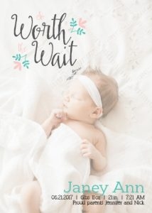 Basic Invite baby announcement