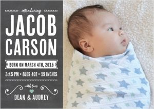 Basic Invite baby announcement