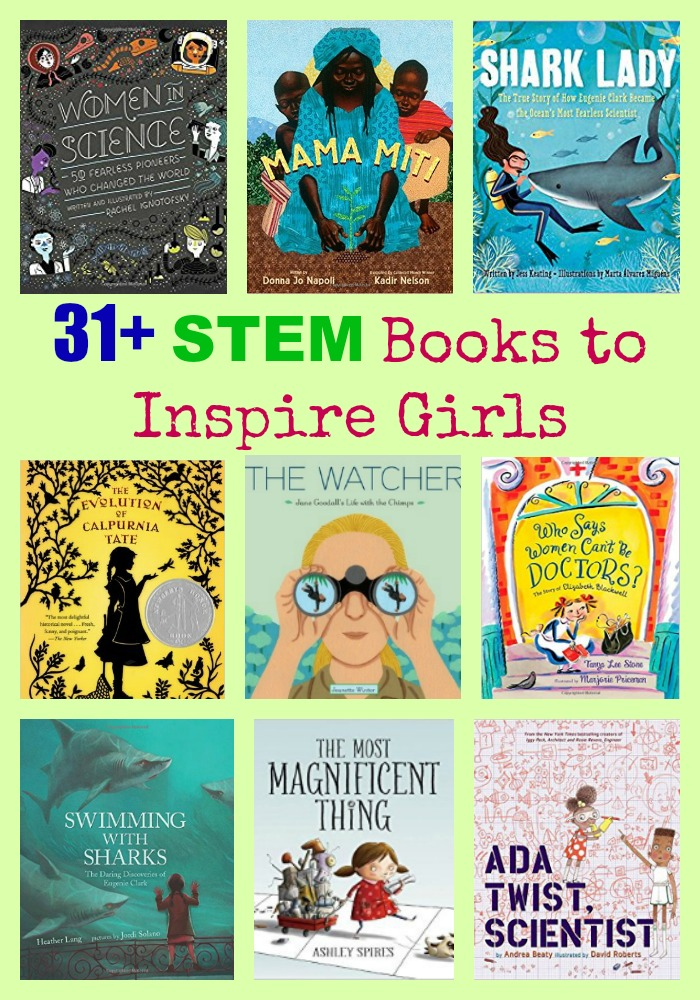31+ STEM Books to Inspire Girls