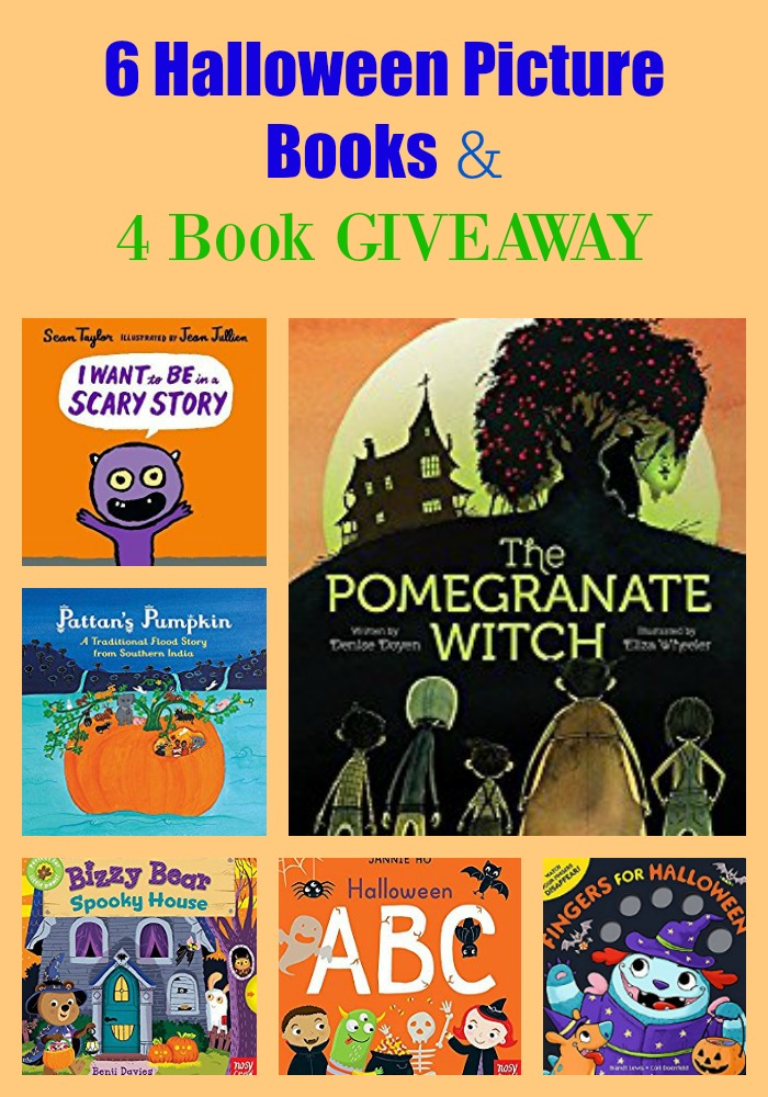 6 Halloween Picture Books & 4 Book GIVEAWAY
