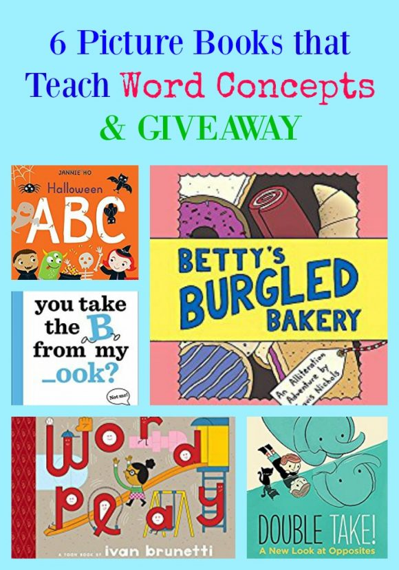 6 Picture Books That Teach Word Concepts & GIVEAWAY