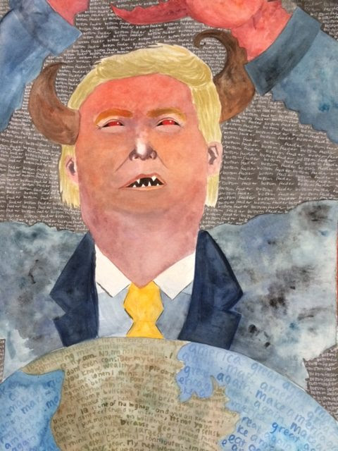 Donald Trump as bottom feeder by Zoe Lee
