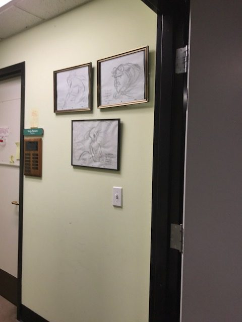 Cal Arts Animation original drawings