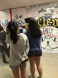 Cal Arts graffiti walls