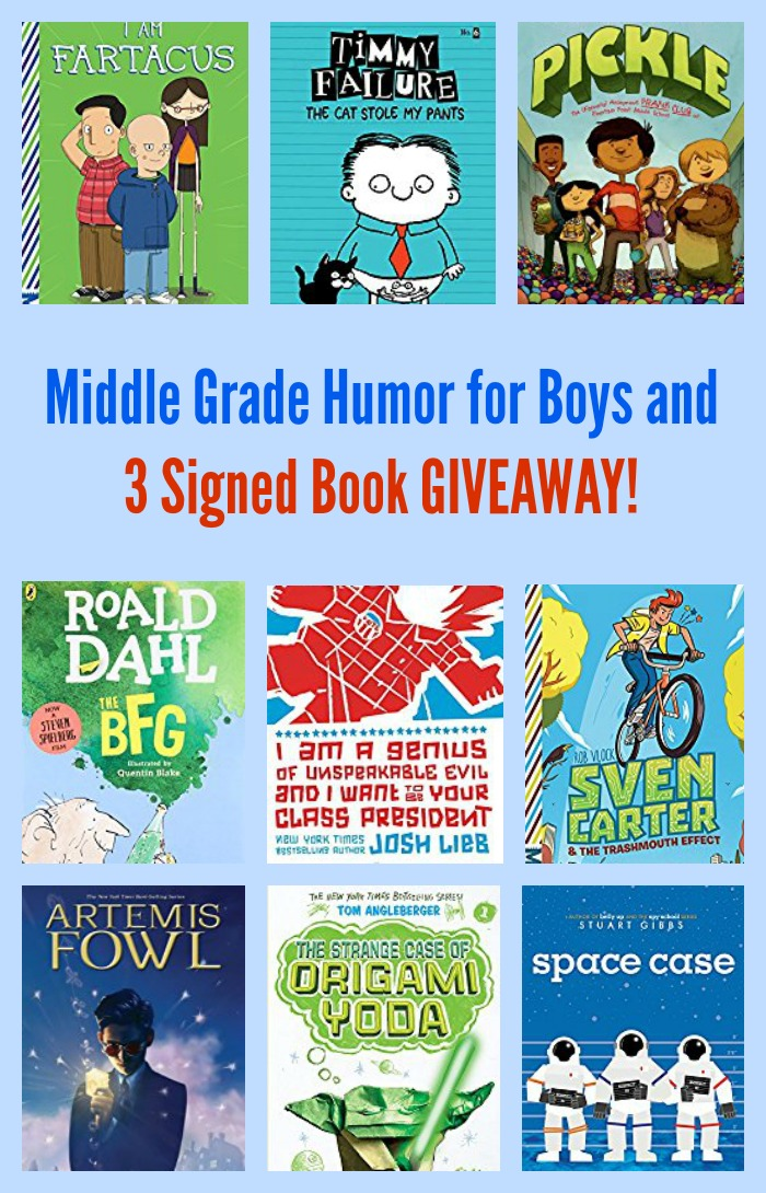 Middle Grade Humor for Boys and 3 Signed Book GIVEAWAY!