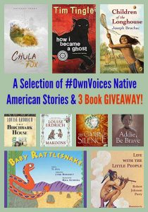 A Selection of #OwnVoices Native American Stories & 3 Book GIVEAWAY!