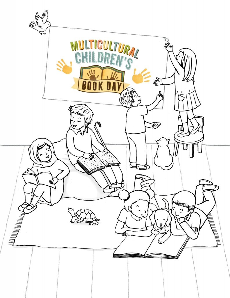 Aram Kim Multicultural Children's Day 2018 Poster coloring sheet