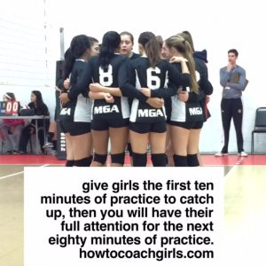 coaching girls versus boys, How To Coach Girls