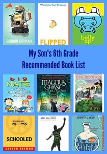 My Son's 6th Grade Recommended Book List