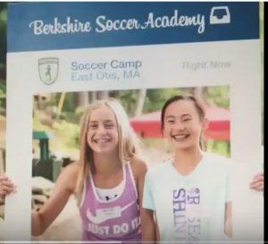 Ali and Sidnie at Berkshire Soccer Academy