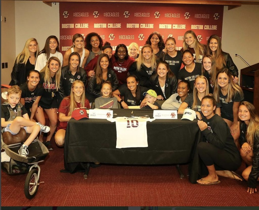 Boston College Women's Soccer and Team Impact