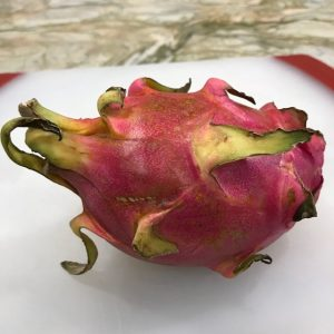 My 13 year old son's exotic fruit challenge: Dragonfruit