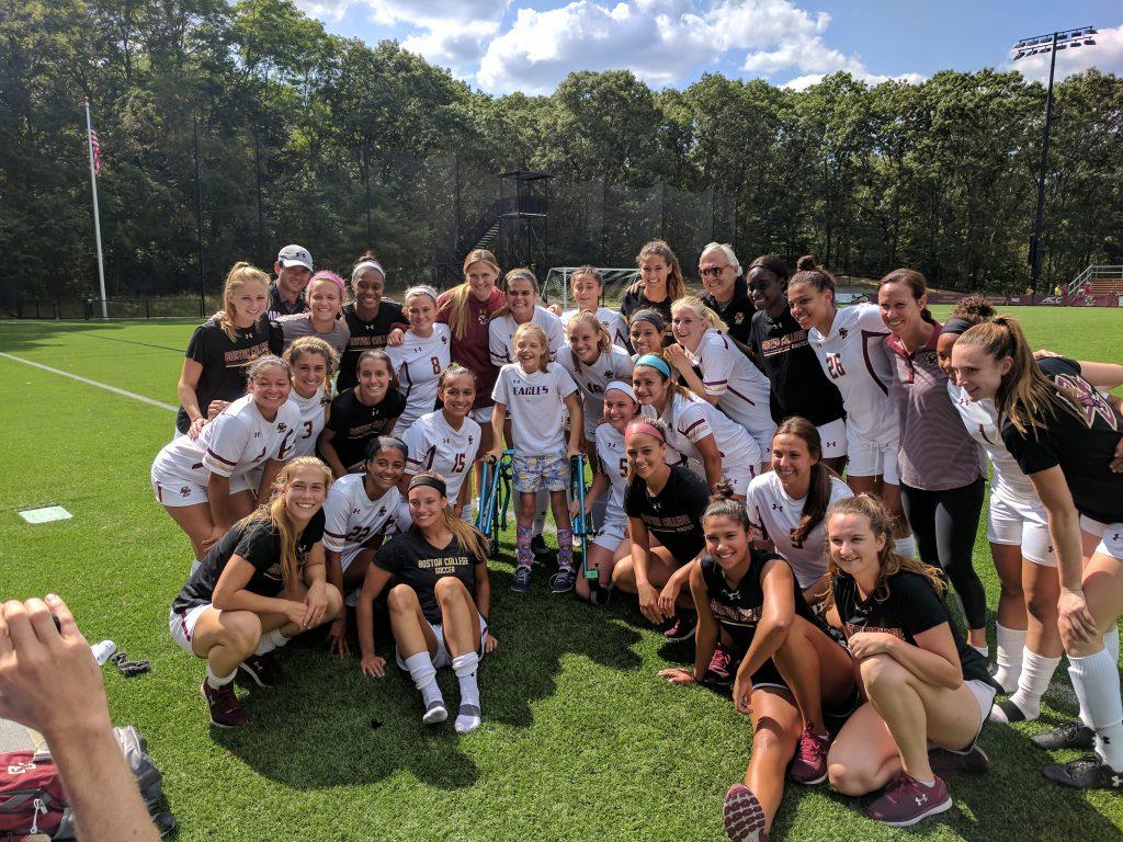 Team Impact and Boston College Women's Soccer Team