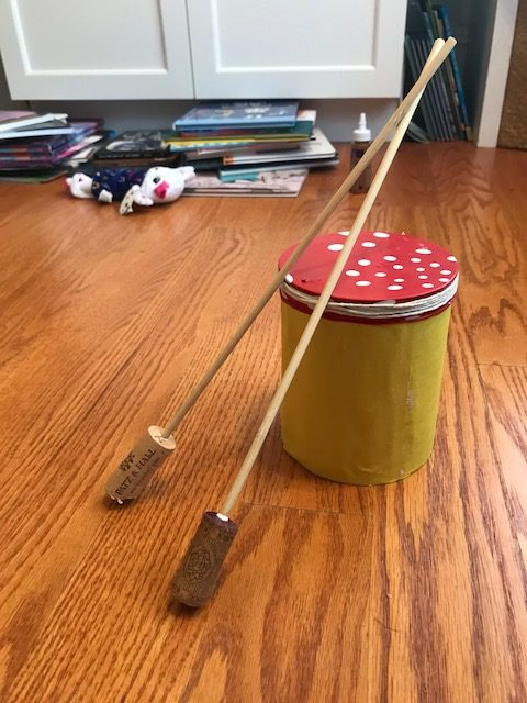 oatmeal can drum craft