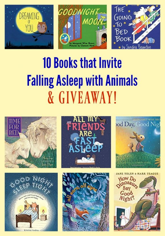 10 Books that Invite Falling Asleep with Animals & GIVEAWAY!