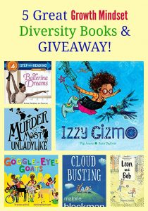 5 Great Growth Mindset Diversity Books & GIVEAWAY!
