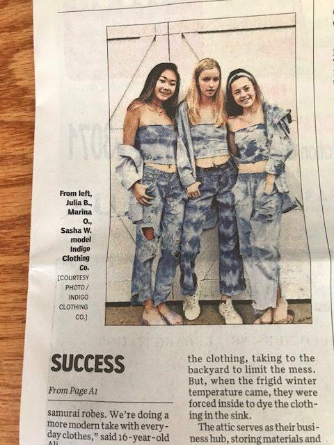 teen entrepreneurs Indigo Clothing Co.
