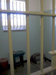 Nelson Mandela's tiny jail cell on Robben Island