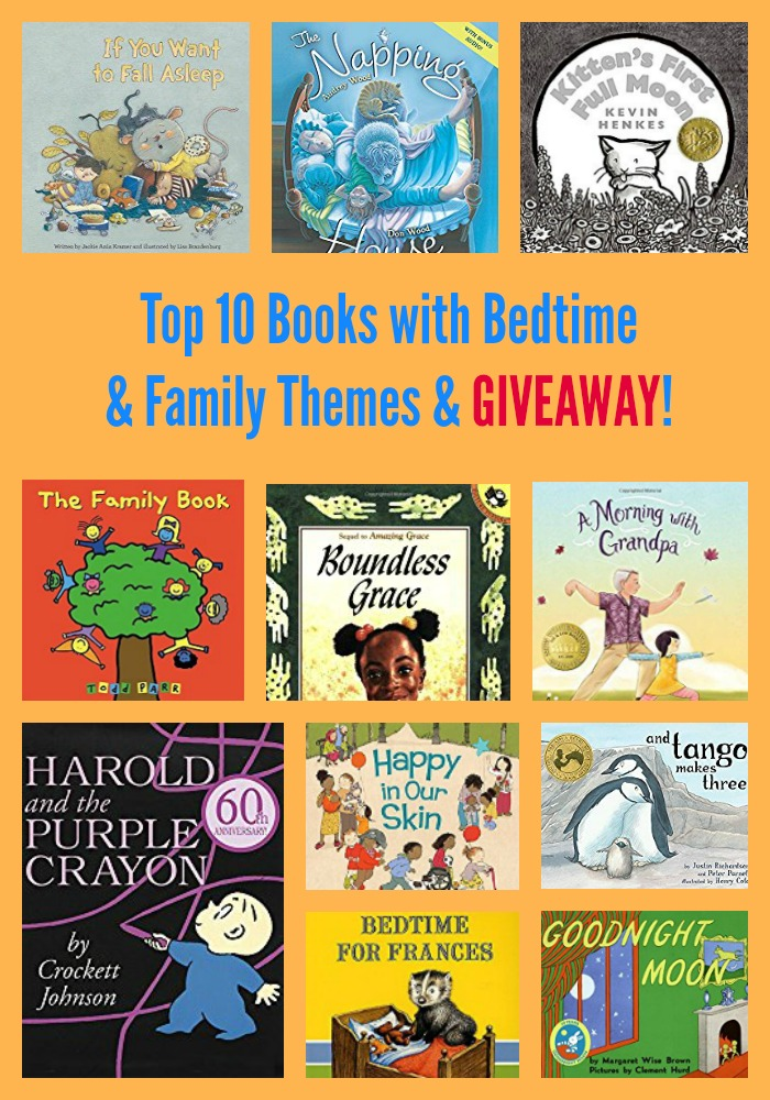 Top 10 Books with Bedtime & Family Themes & GIVEAWAY!