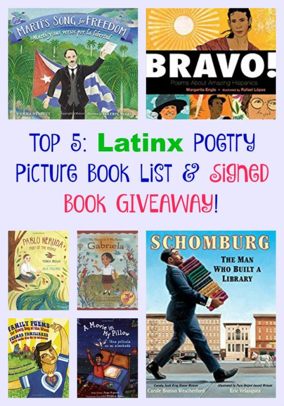 Top 5: Latinx Poetry Picture Book List & Signed Book GIVEAWAY!