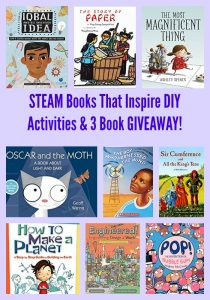 STEAM Books That Inspire DIY Activities & 3 Book GIVEAWAY!