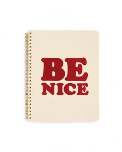 Be Nice notebook for Ask Emma giveaway