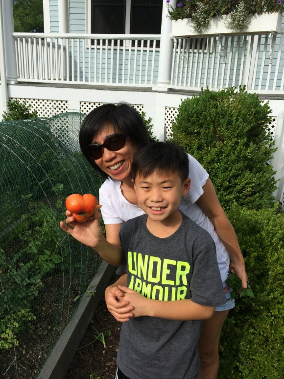 gardening with my son PragmaticMom