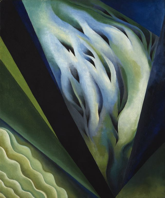 Georgia O'Keefe, Blue and Green Music, 1921