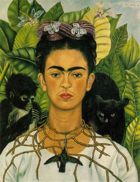 Self-Portrait with Thorn Necklace and Hummingbird (1940), Harry Ransom Center