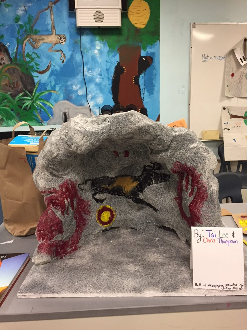 Prehistoric Cave for Ancient Feasts Middle School Project