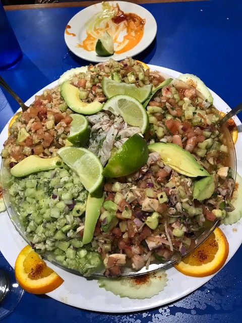 best ceviche in San Antonio El Buchanero