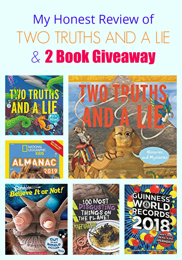 My Honest Review of TWO TRUTHS AND A LIE & 2 Book Giveaway