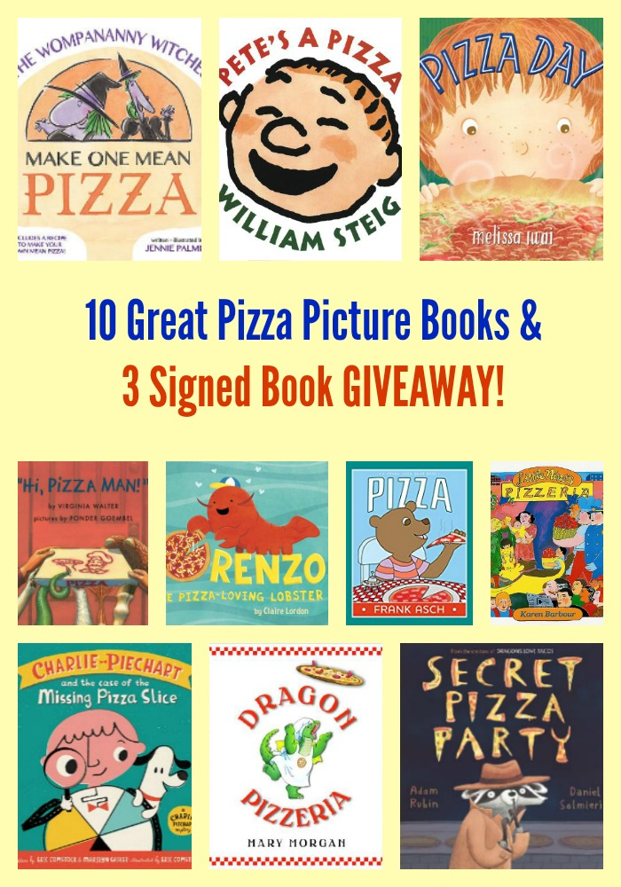 10 Great Pizza Picture Books & 3 Signed Book GIVEAWAY!
